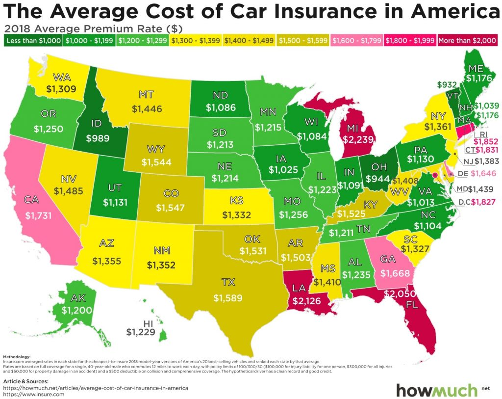 Most Expensive Car Insurance Rates In 2018