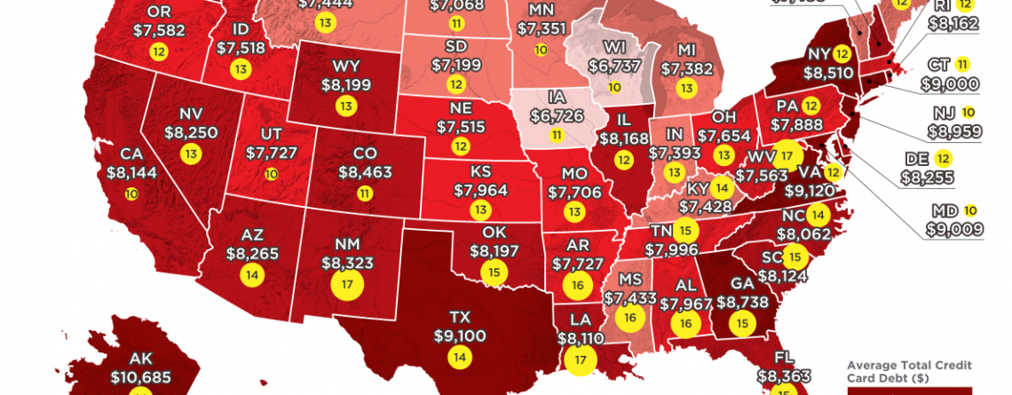 Average Credit Card Debt In Every State